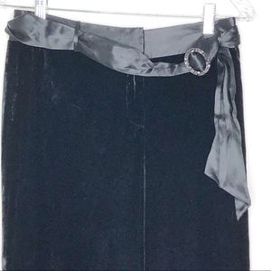 Ann Taylor black crushed velvet look dressy pants